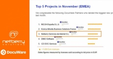 Netberry Solutions accede al Top Five de proyectos EMEA de Docuware